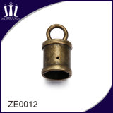 High Quality Zinc Alloy Antique Brass Cord End