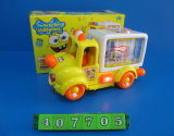 Battery Operated Cartoon Car Toy with Music & Light (407705)