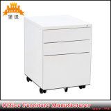 White Color Office 3 Drawer Under Table Filing Metal Storage Mobile Pedestal Cabinet