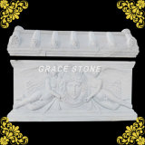 Stone Basso-Relievo, Natural Marble Hand Carved Relief