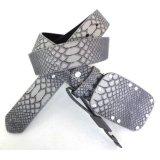 New Snake Leather Grain Men′s Waist Belts