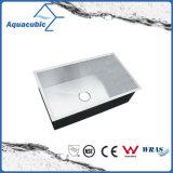 Luxury Man-Made Corner Cast Iron Kitchen Sink (ACS3218A1)