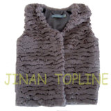 Baby Faux Fur Fake Fur Vest with Front Buttons