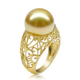 Attractive and Newest Fashion Pearl Copper Party Rings (FQ-9068)