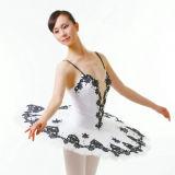 Unique Shiny Leotard Sexy White Dance Ballet Dress OEM