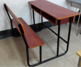 Double Attached Desk and Chair School Furniture (SF-51D)