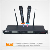 Professional High Sensitive UHF Wireless Microphone with Two Handheld Mic