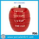 Red Apple Shape Eco-Friend Ceramic Measuring Cup