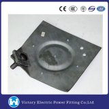 Hot DIP Galvanized Forged Ground Plate Polebutt Pole Line Hardware