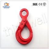 G80 Forged Alloy Steel Self Locking Eye Safety Hook