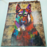 Home Goods Beautiful Animal Colorful Dog Canvas Oil Painting (LH-149000)