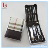 Wholesale Good Quality Leather Case Nail Clippers Kit Manicure Pedicure Set