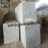China Carrara White Natural Stone Marble Tile