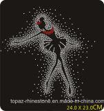 Dance Girl Iron on Crystal Heat Transfer Motif Rhinestones Hot Fix Motif for Dance Dress (TP-122 dance girl)