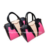 Latest Contrast Fashion PU Ladies Handbag (KCH134-3)