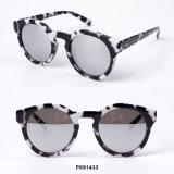 New Fashion Women Plastic Round Sunglasses with Demi