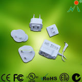Travel Adapter with Universal Plugs Interchangeable Adapter AC Adapter