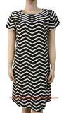 Women′s Woven Print Dress (RTD14069)