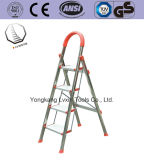 4 Step En131 Approved Multi-Purpose Household Folding Stainless Steel Ladder