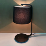 Hotel Decorative Fabric Shade Metal Body Table Light for Guestroom