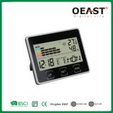 Multi Function Calendar Clock Thermometer Colorful Hygrometer Display 12/24 Time Ot5527th