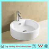 Round Counter Top Single Faucet Hole Basin