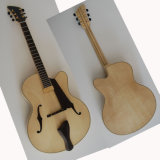 17inch Handmade Jazz Guitar Natural Color 6 Strings