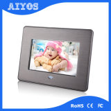 7inch High Resolution Metal Digital Photo Frame with Rechargeable Battery