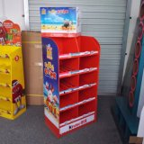 Creative Kinder Chocolate Cardboard Floor Display Stand with 5 Shelves