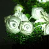 Solar String Lamp with Novelty Rose Flower for Wedding