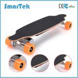 Smartek 4 Wheel Electric Wooden Skateboard with Remote Control Portable Longboard Dual Drive Gyroscope 4 Wheels Electric Seg Way Style Scooter Patinete S-019