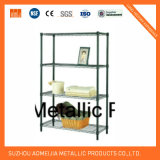Four Layers Commercial Steel Chrome Wire Shelf
