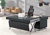Glass Top Executive Office Desk Wooden Office Furniture (HX-GL007)