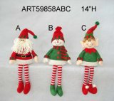 Santa, Snoman and Elf Christmas Decoration Gift Self Sitter-3 Asst