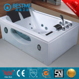 Double-Seat White Acrylic Massage Bathtub (BT-A355)