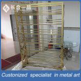 Wholesale Customized Bronze 8k Mirror Wine Rack Display for Suppermarket/Villa