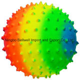Colorful PVC Rainbow Massage Ball Knobby Ball