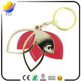 The Red Leaves in The Shape of a Metal Key Chain
