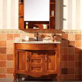 European Painted Red Oak Bathroom Storage Vanity Cabinet (GSP14-008)