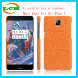 Crocodile Grain Leather Back Case for One Plus 3