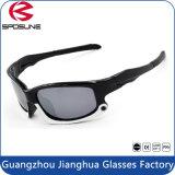 Fashion Sunglasses Black PC Frame Polarized Lens Sliver Coating Sports Glasses