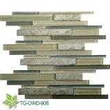 Cinerous Strip Glass Mosaic Tiles (TG-OWD-908)