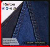 9.7oz Indigo Twill Cotton Polyester Stretch Mercerizing Denim Fabric