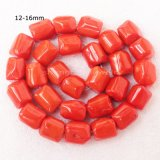 9-16mm Orange Red Coral Freeform Beads Strand