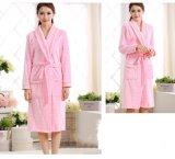 Promotional Women Coral Fleece / Velvet / Flannel Bathrobe / Pajama / Nightwear