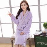 Promotional Women Flannel / Coral Fleece /Velvet Bathrobe / Pajama / Nightwear