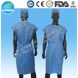 Disposable Nonwoven Hospital Patient Gown Doctor Coat for Medical Use