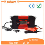 Suoer 12V 6A Smart Automatic Fast Solar Car Battery Charger with Ce (DC-W1206A)