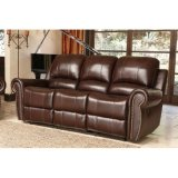 Top-Grain Leather Recliner Sofa, Loveseat and Armchair Set