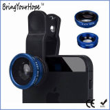 Universal Clip 3in1 Phone Camera Fisheye Wide Macro Lens (XH-LF-001)